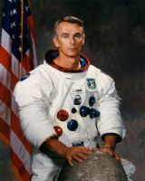 "NASA Astronaut Eugene A. Cernan 8""x10"" Full Colour Portrait"